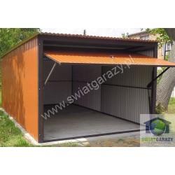 Garaż blaszany 3 x 6 RAL połysk z uchylną bramą