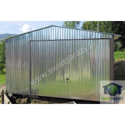 Garaż blaszak 4m x 6m dwuspad z uchylną bramą