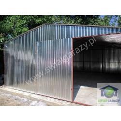 Garaż blaszak 5m x 5m dwuspad z bramą uchylną