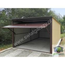 Garaż blaszany 3 x 5 RAL połysk z uchylną bramą