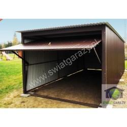 Garaż blaszany 3,5 x 5 RAL połysk z uchylną bramą