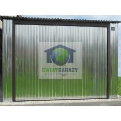 Garaż blaszak 3,5m x 5m z bramą uchylną