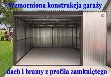 Garaże ocynkowane o wzmocnionej konstrukcji