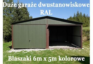 Garaże dwustanowiskowe 6m x 5m