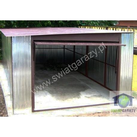 Garaż  blaszany ocynkowany 4m x 5m z bramą uchylną