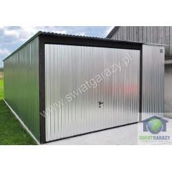Garaż  blaszany ocynkowany 4m x 6m z bramą uchylną
