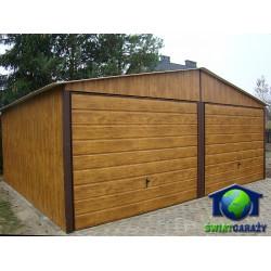 Garaże Blaszane 6x5 Złoty Dąb Drewnopodobne