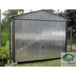 Garaż blaszak 3.5m x 5m dwuspad z bramą uchylną