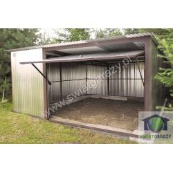 Garaż blaszak 5m x 5m z uchylną bramą