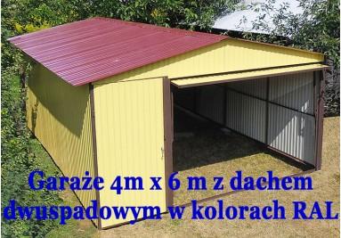 Wzmacniana konstrukcja garaży blaszanych 4x6