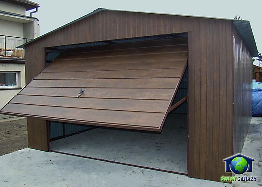 garaz-blaszany-orzech-4x6-dwuspad-szeroki-panel