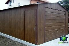 garaz-4x6-imitacja-drewna-orzech-dwuspadowy